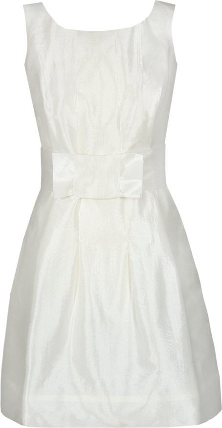 Sukienka Fokus mini rozkloszowana z okrągłym dekoltem