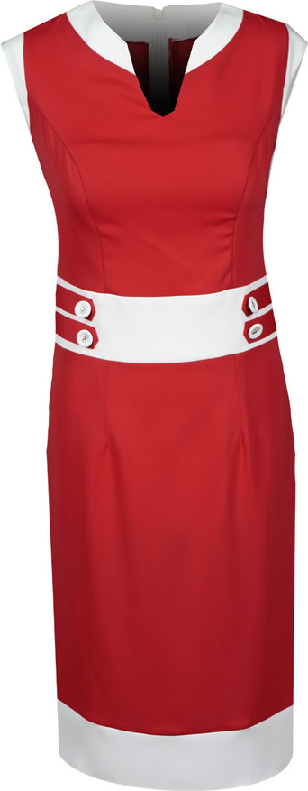 Sukienka Fokus ołówkowa midi w stylu klasycznym