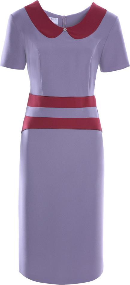 Sukienka Fokus ołówkowa mini z tkaniny