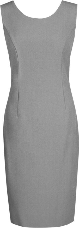 Sukienka Fokus ołówkowa z okrągłym dekoltem midi