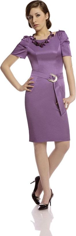 Sukienka Fokus ołówkowa z tkaniny w stylu glamour