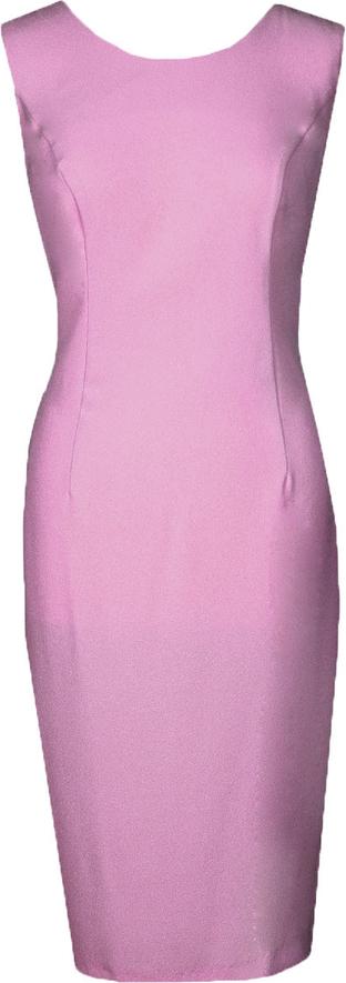 Sukienka Fokus ołówkowa z żakardu bez rękawów
