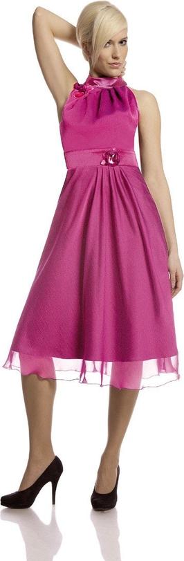 Sukienka Fokus rozkloszowana bez rękawów midi