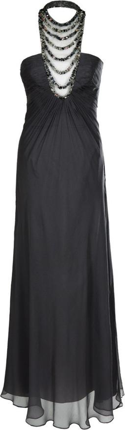 Sukienka Fokus rozkloszowana bez rękawów z szyfonu