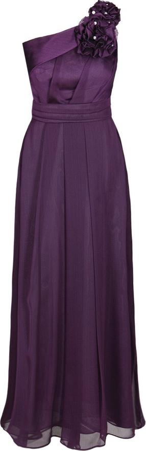 Sukienka Fokus rozkloszowana z asymetrycznym dekoltem