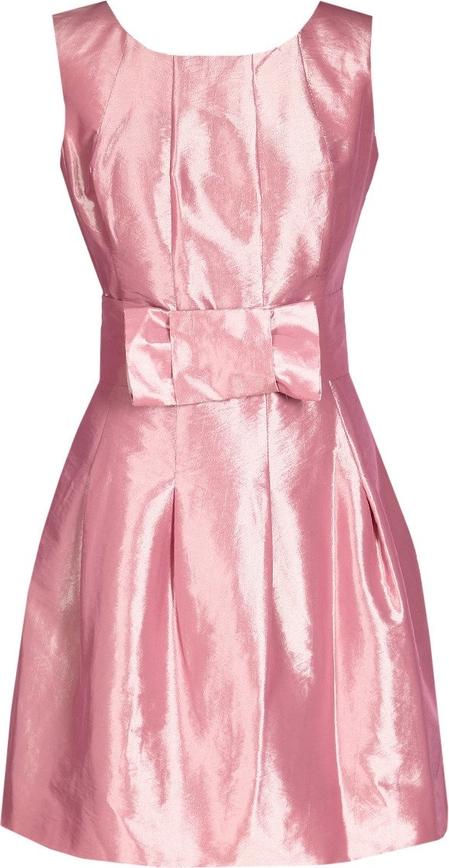 Sukienka Fokus rozkloszowana z krótkim rękawem