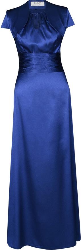 Sukienka Fokus rozkloszowana z okrągłym dekoltem z krótkim rękawem