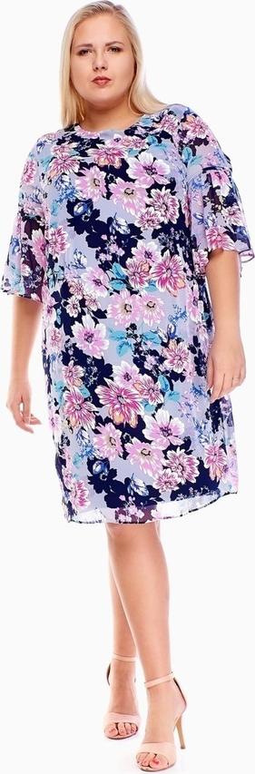 Sukienka Fokus w stylu casual midi z długim rękawem