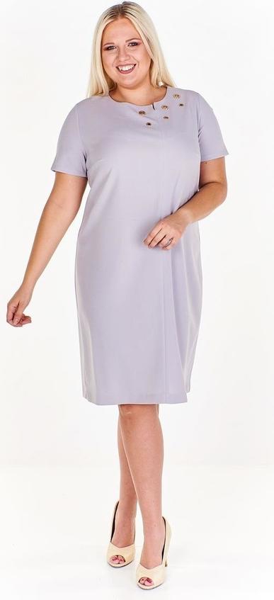 Sukienka Fokus w stylu casual z krótkim rękawem z okrągłym dekoltem