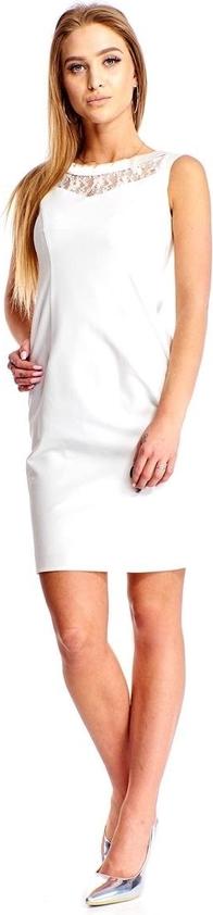 Sukienka Fokus w stylu casual z satyny