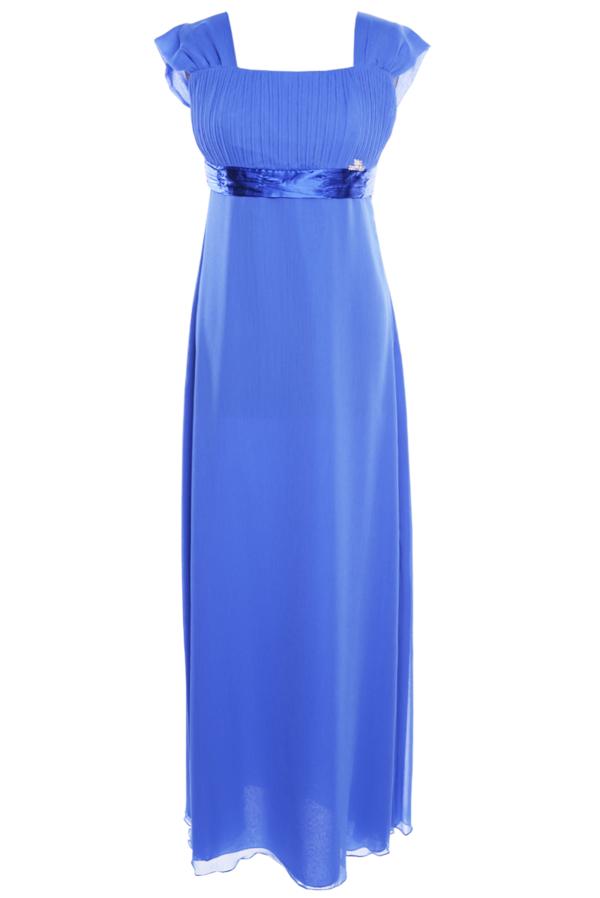 Sukienka Fokus w stylu glamour rozkloszowana z szyfonu