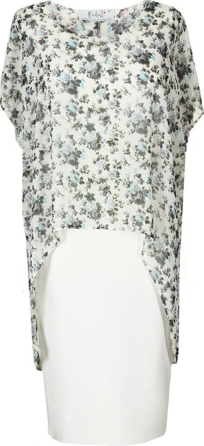 Sukienka Fokus w stylu klasycznym asymetryczna