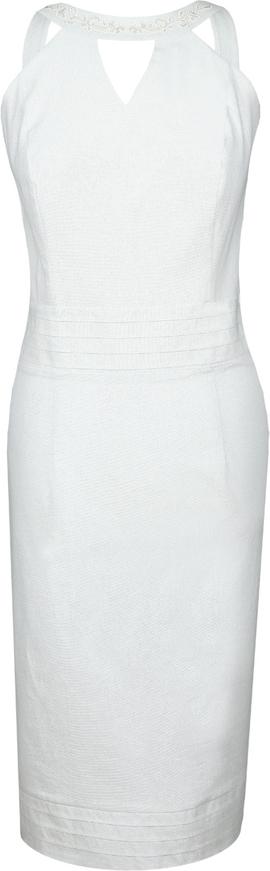 Sukienka Fokus w stylu klasycznym midi bez rękawów