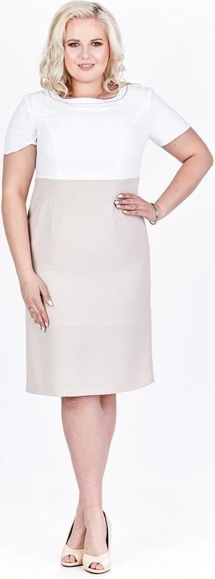 Sukienka Fokus w stylu klasycznym midi dopasowana