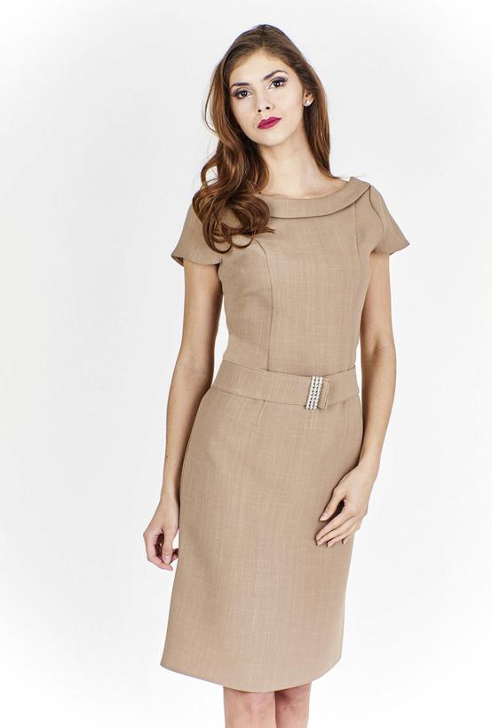 Sukienka Fokus w stylu klasycznym z krótkim rękawem