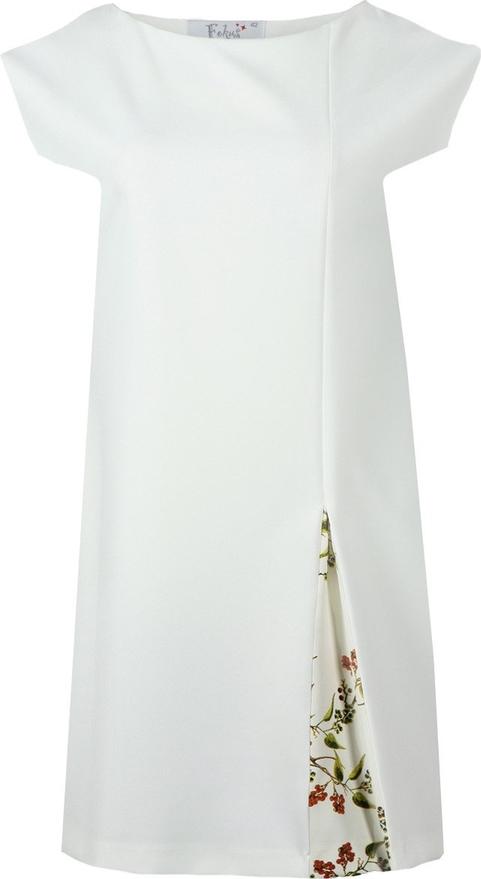 Sukienka Fokus w stylu retro midi z dekoltem w łódkę