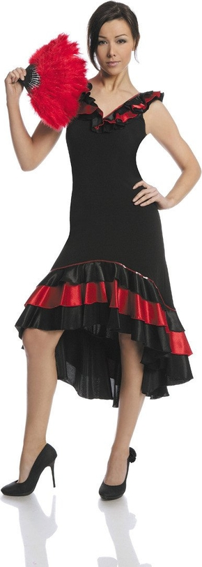 Sukienka Fokus z dekoltem w kształcie litery v midi asymetryczna