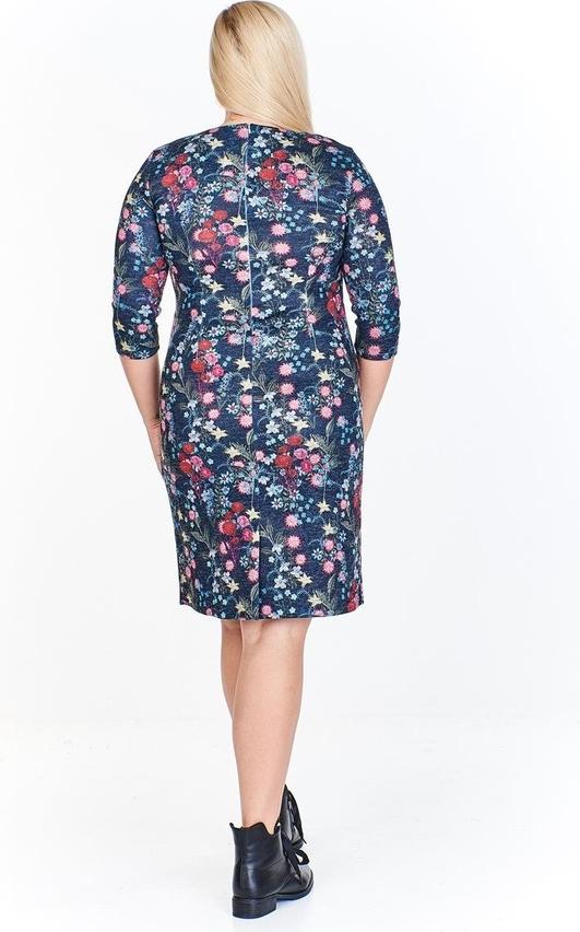 Sukienka Fokus z długim rękawem midi