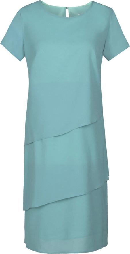 Sukienka Fokus z krótkim rękawem dla puszystych z okrągłym dekoltem