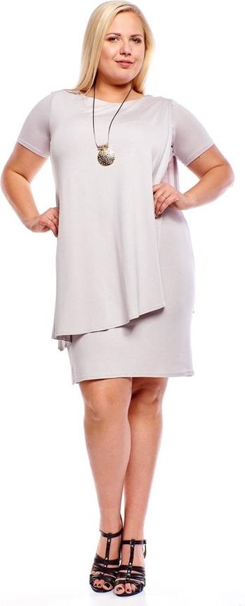 Sukienka Fokus z krótkim rękawem w stylu casual z dzianiny