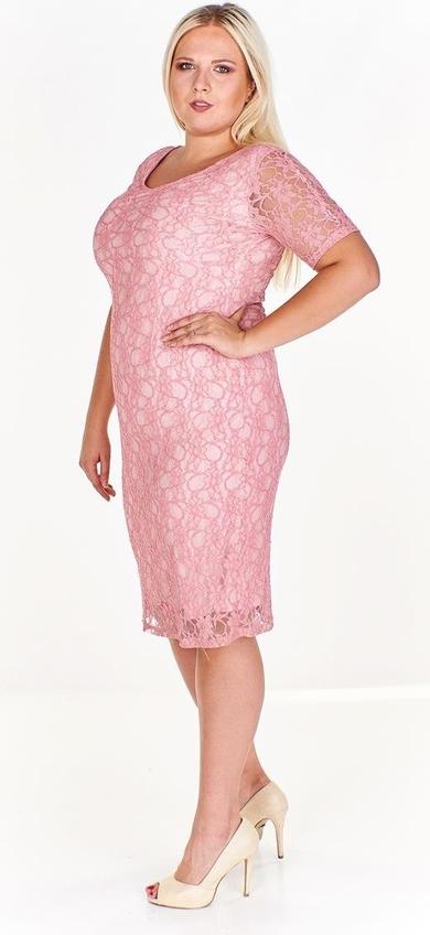 Sukienka Fokus z krótkim rękawem w stylu klasycznym midi