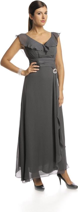 Sukienka Fokus z krótkim rękawem z dekoltem w kształcie litery v maxi