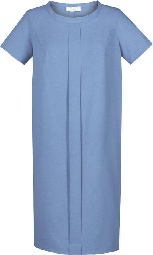Sukienka Fokus z krótkim rękawem z jeansu w stylu casual