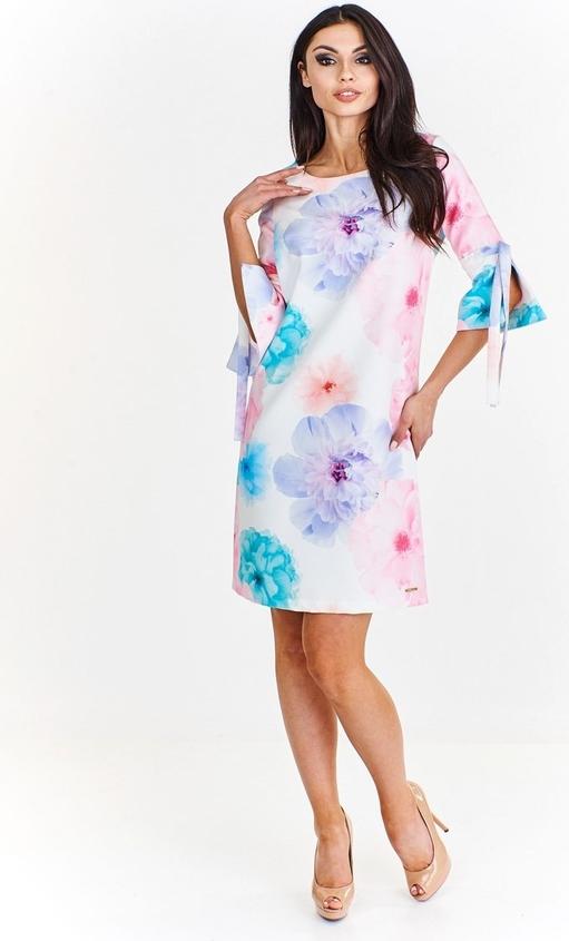Sukienka Fokus z okrągłym dekoltem mini