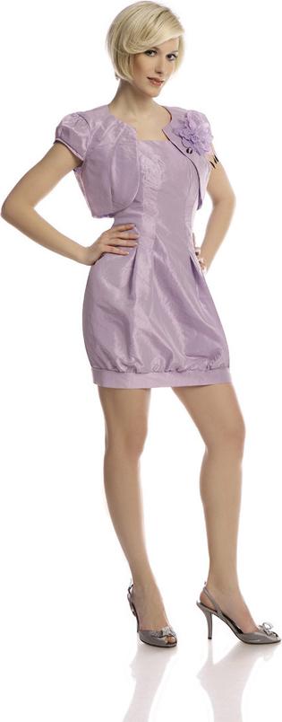 Sukienka Fokus z okrągłym dekoltem mini z krótkim rękawem