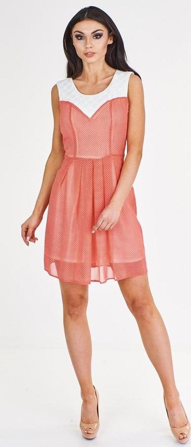Sukienka Fokus z okrągłym dekoltem w stylu casual z szyfonu