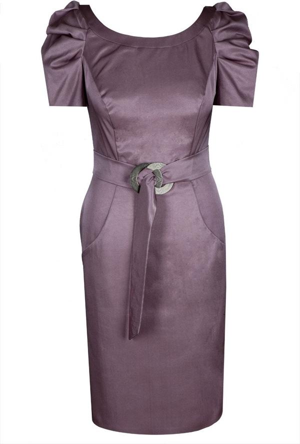 Sukienka Fokus z okrągłym dekoltem z krótkim rękawem ołówkowa