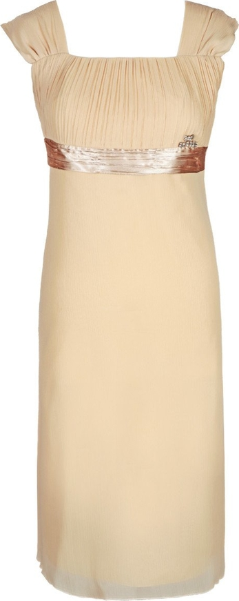 Sukienka Fokus z przeźroczystą kieszenią rozkloszowana midi