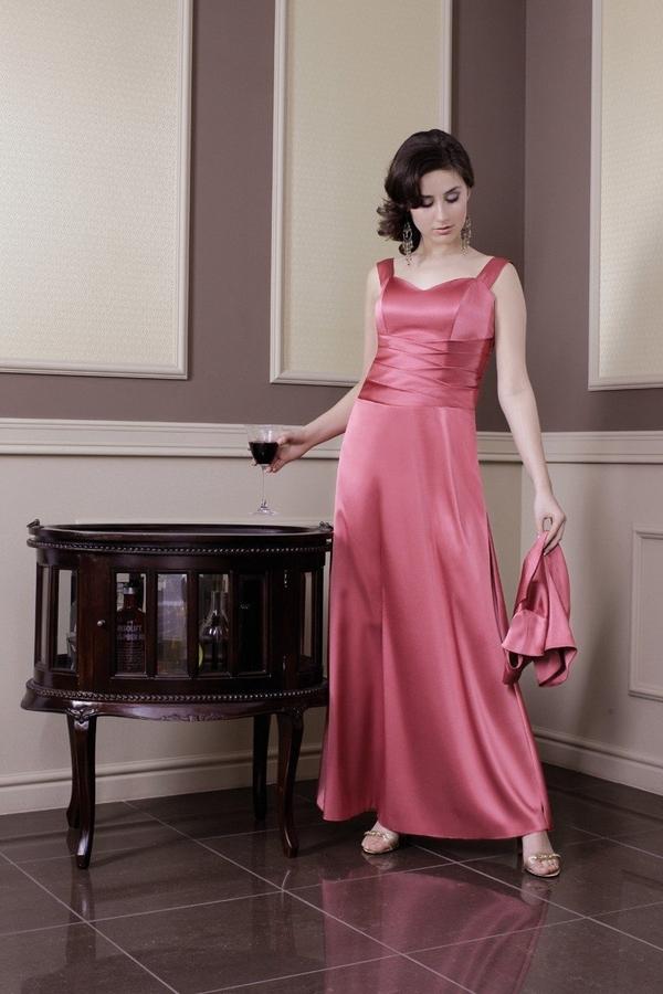 Sukienka Fokus z satyny gorsetowa z dekoltem w kształcie litery v