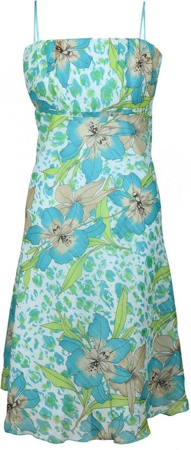 Sukienka Fokus z szyfonu bez rękawów rozkloszowana