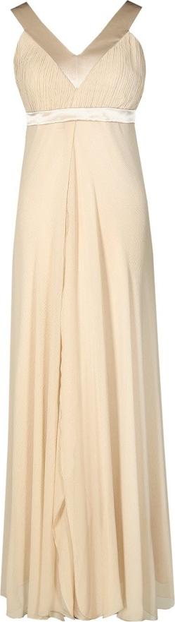 Sukienka Fokus z szyfonu maxi rozkloszowana