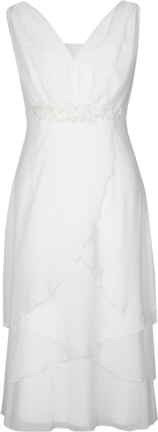 Sukienka Fokus z szyfonu z dekoltem w kształcie litery v