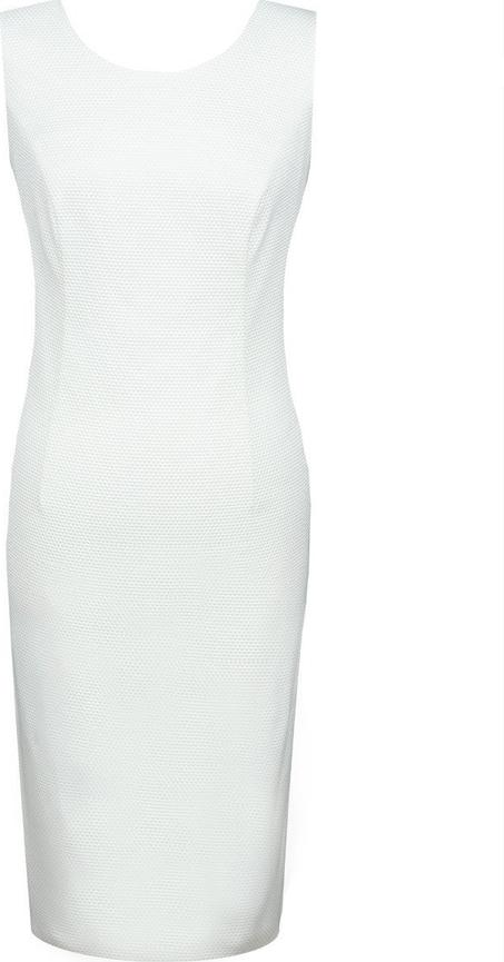 Sukienka Fokus z żakardu bez rękawów midi