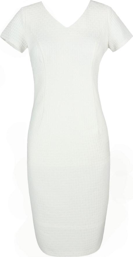 Sukienka Fokus z żakardu z krótkim rękawem ołówkowa
