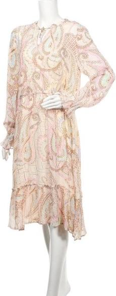 Sukienka Frogbox z okrągłym dekoltem z długim rękawem