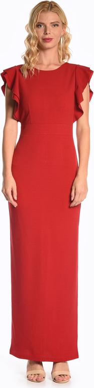Sukienka Gate z okrągłym dekoltem ołówkowa maxi
