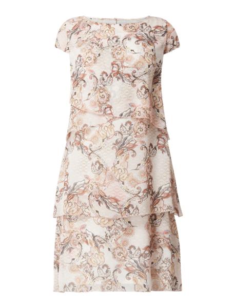 Sukienka Gerry Weber z okrągłym dekoltem mini prosta