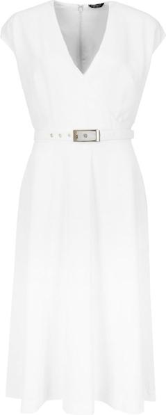 Sukienka Guess by Marciano z dekoltem w kształcie litery v midi bez rękawów