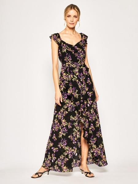 Sukienka Guess maxi w stylu boho z dekoltem w kształcie litery v