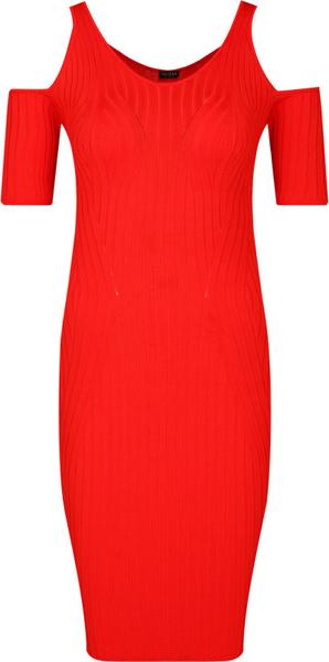 Sukienka Guess midi z krótkim rękawem