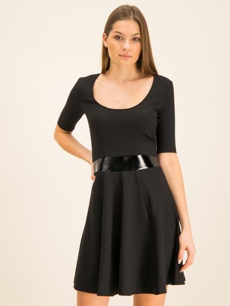 Sukienka Guess mini rozkloszowana z długim rękawem