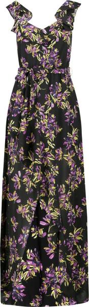 Sukienka Guess z dekoltem w kształcie litery v maxi na ramiączkach
