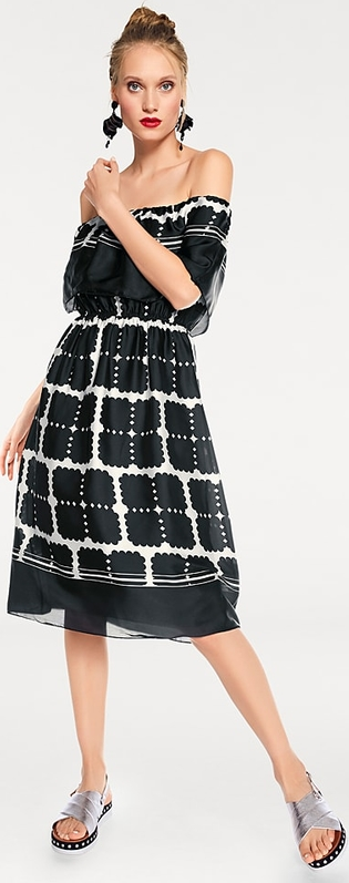 Sukienka Heine z długim rękawem midi
