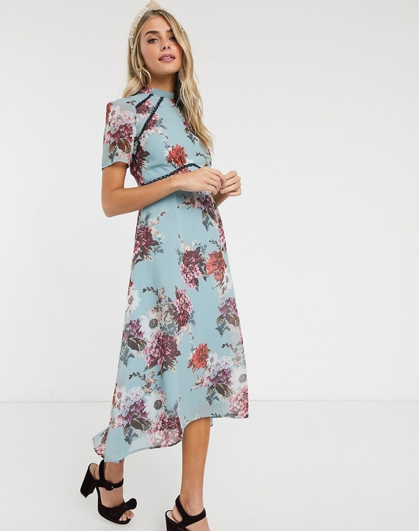 Sukienka Hope & Ivy maxi z krótkim rękawem