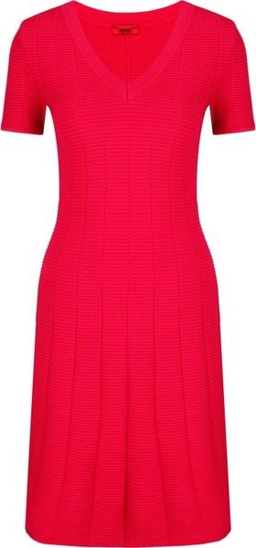 Sukienka Hugo Boss midi z krótkim rękawem