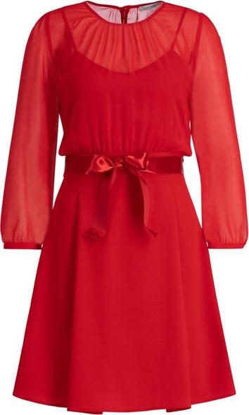 Sukienka iBlues rozkloszowana z długim rękawem mini